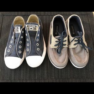 Boys converse and sperry shoes